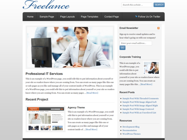 Freelance WordPress Theme - Free Download Genesis Child Theme