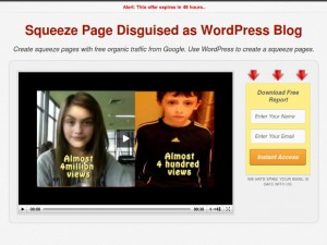 Squeeze Master WordPress theme for squeeze pages - Free WP theme