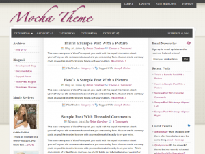 Mocha WordPress theme - Genesis child theme