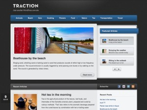 Traction WordPress theme - Free download