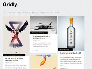 Gridly free responsive WordPress theme