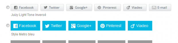 Social sharing button plug-in for WordPress