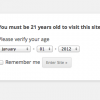 WordPress Age Verify