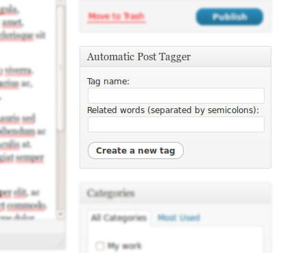 Automatically Tag Your WordPress Posts
