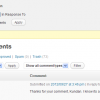 WordPress: Manage comments in bulk