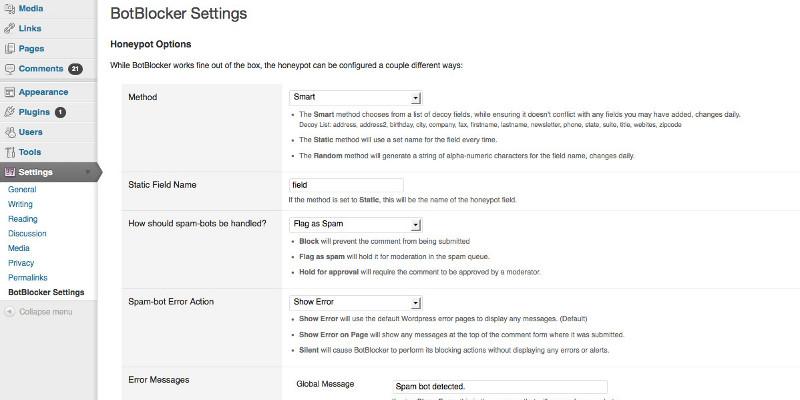BotBlocker WordPress Plugin