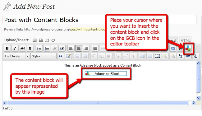 Global Content Blocks WP Plugin