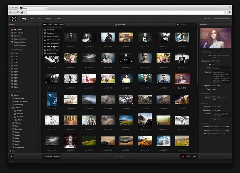 Koken CMS for portfolio websites