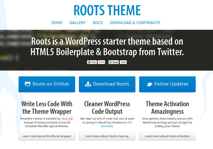 Roots Bootstrap theme for WP