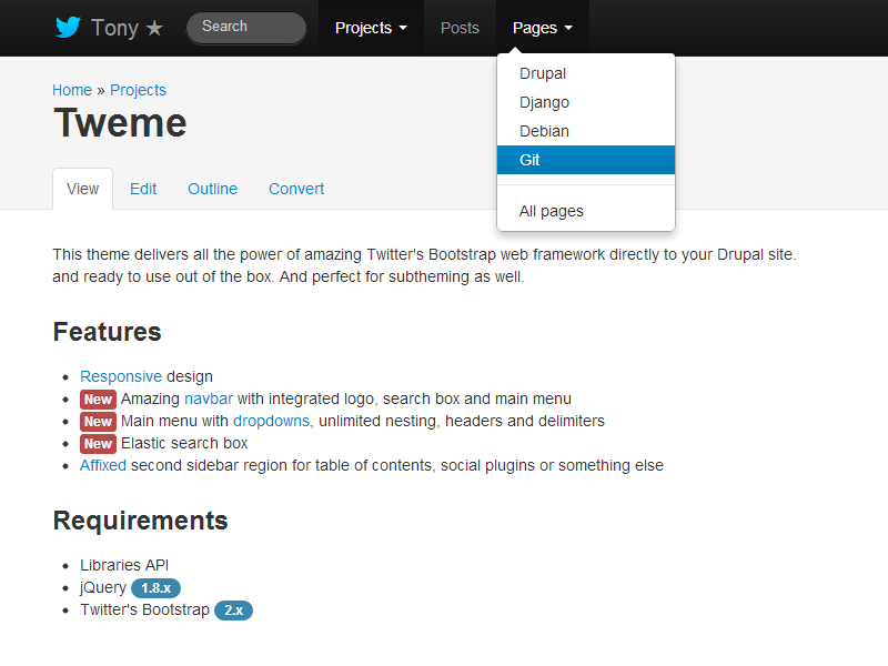01. Infinity Free One Page Bootstrap Template