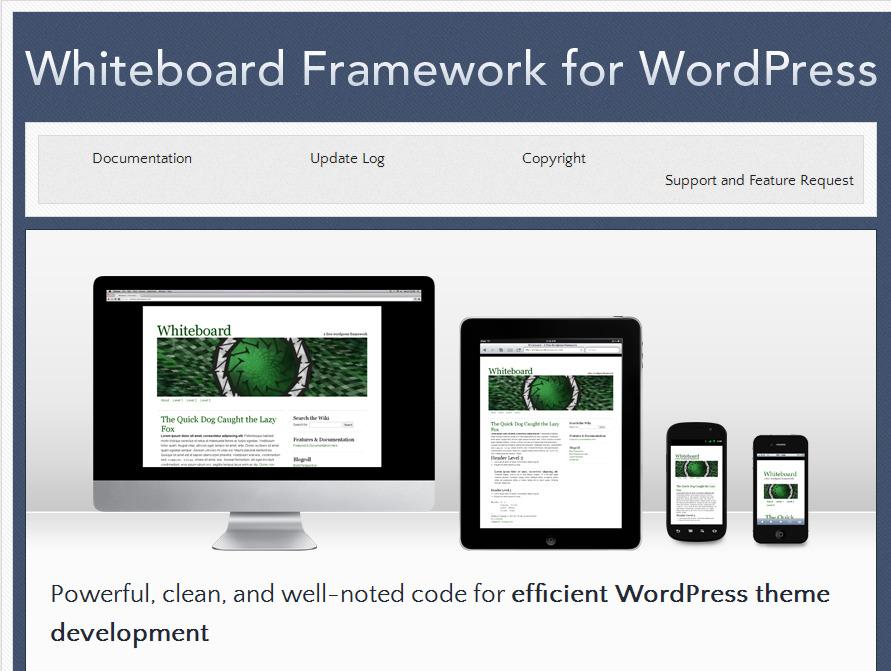 Whiteboard WordPress theme framework